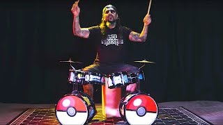 Watch Mike Portnoy playing a Pokemon drum kit