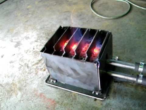 小型の廃油ストーブを実験1