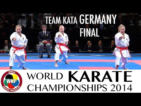 Final Female Team Kata GERMANY. 2014 World Karate Championships