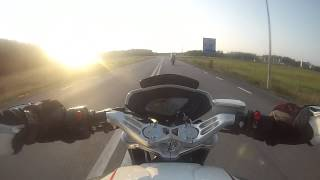 9. Breaking in my brand new Pirelli Rosso II obn my MV Agusta Dragster