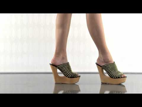 multiple heels and shoes - To purchase please visit: http://www.heels.com/womens-shoes/luccious-black-multi.html Ooh la la! You won't be able to keep your hands off the Luccious by Ste...
