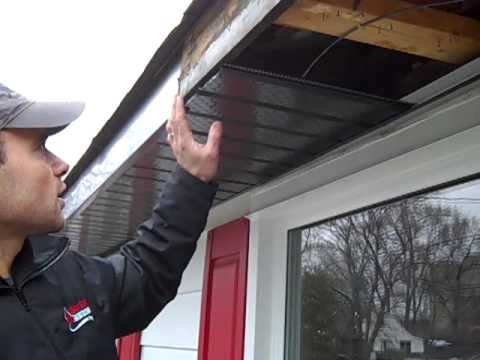 Installing Rafter Vents in Soffits