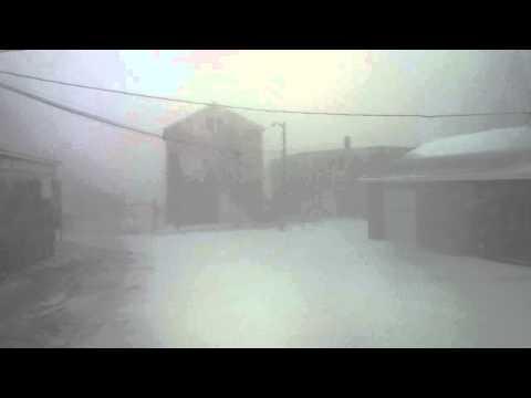 March 26 2014 Snowstorm hits Nova Scotia - Filmed  at UJ Robichaud Timbr Mart in Meteghan NS