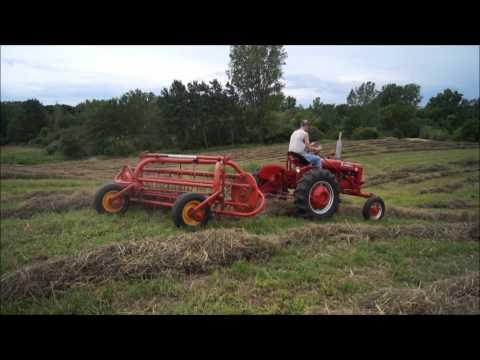 Hay Baling and Raking with Farmall Tractors