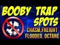 "COD: Ghosts - ""BOOBY TRAP SPOTS"" Chasm, Freight, Flooded, Octane ""DYNAMIC"" Map Locations"