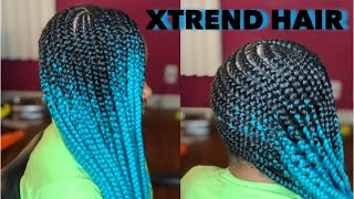 Video Lemonade Braids on 4C Hair Using Only Edge Control | Xtrend Hair MP3, 3GP, MP4, WEBM, AVI, FLV Agustus 2018