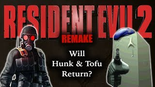 Hunk and Tofu in RE2 Remake?New Scenarios? More Back Story? Unlockables?Subscribe: https://goo.gl/HAvfDUTwo of the most obscure yet talked about characters in Resident Evil history made their debut in the original Resident Evil 2. Hunk, a mercenary from Umbrella, and Tofu, a game design testing block of soy in an unlockable mini-game called the 4th Survivor. With Resident Evil 2 Remake coming soon, will we be seeing an extended role for Hunk or Tofu?SOURCESGame clips from Resident Evil 2, Resident Evil Umbrella Chronicles, Resident Evil Darkside Chronicles, Resident Evil 7Rod Lima's RE2 Remakes ► https://www.youtube.com/channel/UCM79DLW3jjy3z4VdVysR1DQRESIDENT EVIL 2 REMAKETHEORY: Ada & Sherry ► https://goo.gl/mzFYqLTHEORY: Scenarios ► https://goo.gl/33E7nsTHEORY: Co-op ► https://goo.gl/zmucwuTHEORY: New Scenarios? ► https://goo.gl/843iTyCHANGES: New Camera Angles ► https://goo.gl/VsPMN7CHANGES: New Game Engine ► https://goo.gl/rECNKFCHANGES: New Character Models ► https://goo.gl/LCgPPZCHANGES: New Voice Actors ► https://goo.gl/VoiSPtSummary Of What We Know ► https://goo.gl/JNUyWYWhy Wasn't RE2 Remake At E3? ►  https://goo.gl/xd1yN4WHERESBARRY ON SOCIAL MEDIATwitter ► http://www.twitter.com/wheresbarryBFacebook ► http://goo.gl/nHTBQ9Instagram ►https://www.instagram.com/wheresbarrybMUSICI Knew a Guy by Kevin MacLeod is licensed under a Creative Commons Attribution license (https://creativecommons.org/licenses/by/4.0/)Source: http://incompetech.com/music/royalty-free/index.html?isrc=USUAN1100199Artist: http://incompetech.com/