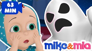 Video Ghost Wheels on The Bus | Spooky Wheels on The Bus | Nursery Rhymes by Mike and Mia MP3, 3GP, MP4, WEBM, AVI, FLV Juli 2018