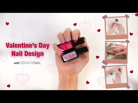Gel nails - How To: Easy Valentines Nails with SensatioNail Express Gel Polish