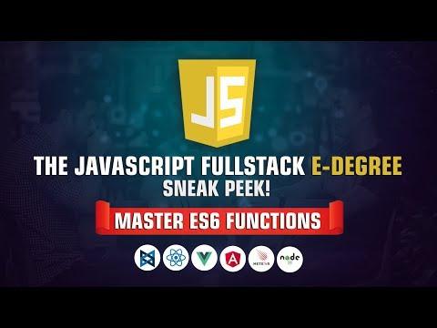 Master ES6 Fundamentals | The Fullstack Javascript E-degree Sneak Peek | Eduonix