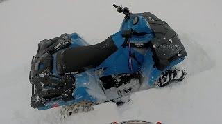 10. 2016 Polaris Sportsman 450 First Snow Rip