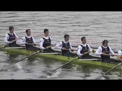 Oxford University Boat Club - Go to 1.43 to see the race rather than the paddling. Apologies.