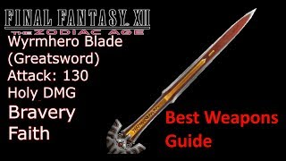 Final Fantasy XII The Zodiac Age PS4 - Best Weapon of Every Type and How to Get (Gear Guide)Reks RNG Manipulation: https://youtu.be/1VpFs1O8s9I /// https://youtu.be/zAHrtUb_wY0Gendarme Shield: https://youtu.be/UI60KpWeGDkIf you see your copyright infringed by this Video, tell me and I will take down the video immediately. No need to strike my channelSupport: https://youtube.streamlabs.com/meloo#/or https://www.patreon.com/Meloo