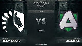 Team Liquid vs Alliance, Game 1, EU Qualifiers The Chongqing Major