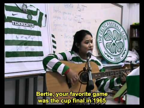 JCGE at the passport office - http://www.goodchildfoundation.com/ A song for Lisbon Lion Bertie Auld. The Thai Tims will sing this for youtube later this month.