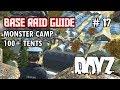 Black Lake Monster Camp - 100+ Tents!!! Biggest Camp DayZ SA - Base Raid Guide #17 - Inquisam