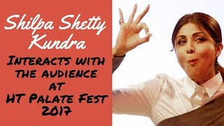 Shilpa Shetty Kundra Intracts with the Audience at HT Palate Fest | Full Video
