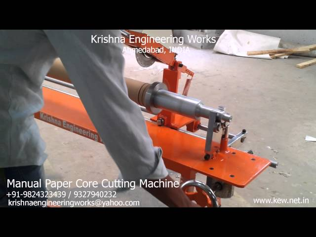 Manual Paper Core Cutting Machine – Krishna Engineering Works