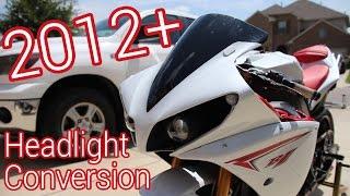 10. Yamaha R1 2012 Headlight Conversion Reveal!