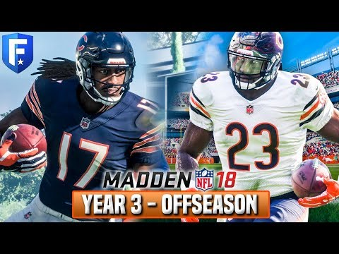YEAR 3 FULL OFFSEASON STREAM! Madden 18 Bears Franchise | Ep.58 (видео)