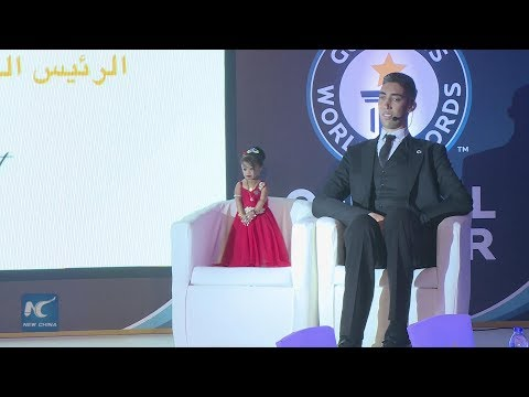 World's tallest man meets shortest woman in Cairo