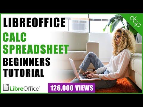 Libre Office Calc Spreadsheet Beginners Tutorial