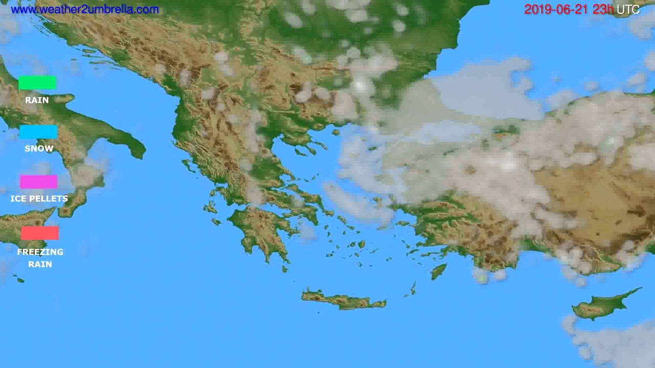 Precipitation forecast Greece // modelrun: 12h UTC 2019-06-18