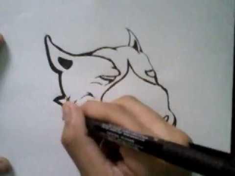 Como desenhar o pit bull da red nose