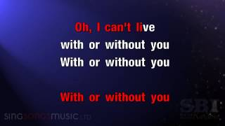 With Or Without You   Karaoke HD In the style of U2