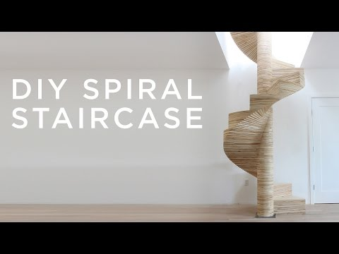 A DIY Spiral Staircase Created by Layering CNC Cut Pieces of