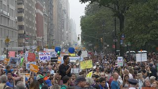 Scenes from the Climate March