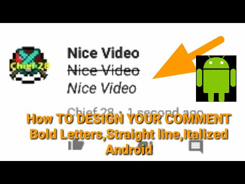 How to DESIGN YOUR COMMENT ,Bold Letter,Have Straight Line,Italized