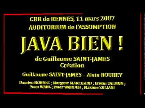 JAVA BIEN ! de Guillaume SAINT JAMES