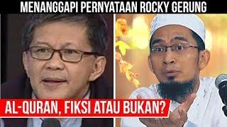 Video RESMI, Ust. Adi Hidayat Tanggapi Pernyataan Rocky Gerung Soal 'Kitab Suci Fiksi' MP3, 3GP, MP4, WEBM, AVI, FLV Desember 2018