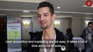 Mantas Radvila represents an app startup and talks about his experience at App Promotion Summit