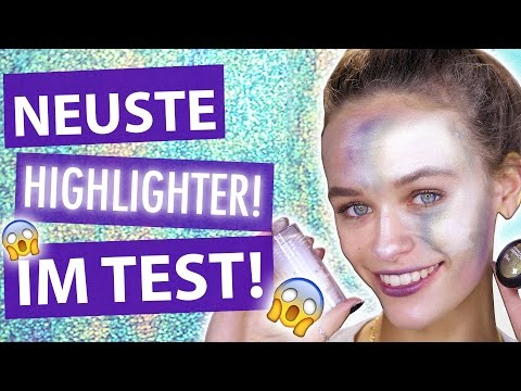2 HIGHLIGHT TRENDS im TEST! l Holographic und Thermal Highlighter Look l MakeUp Mythbusters w/ Mel