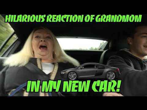 Hilarious Reaction Of Grandma In Fast New Car! (Video)