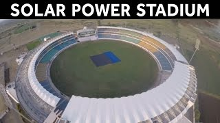 Rajkot India  city photos : India Second Solar Power Cricket Stadium in Rajkot