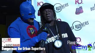 "Nobullying2020 Series  ""Speak Out and Silence Bullies""  Dangerman the Urban Superhero with Flava Flav"