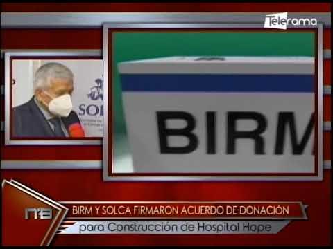 Birm y Solca firmaron acuerdo de donación para construcción de hospital Hope