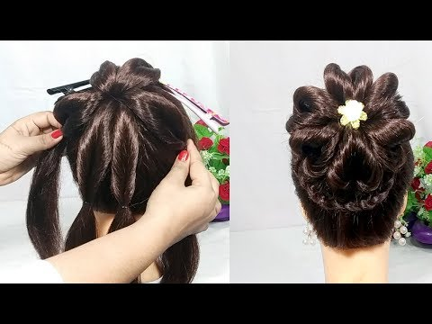 Heart Bun hairstyles with trick  wedding hairstyle  hair style girl  easy hairstyles  hairstyles