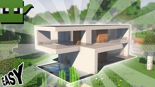 Minecraft Tutorial: How to Build a Small Modern House #1