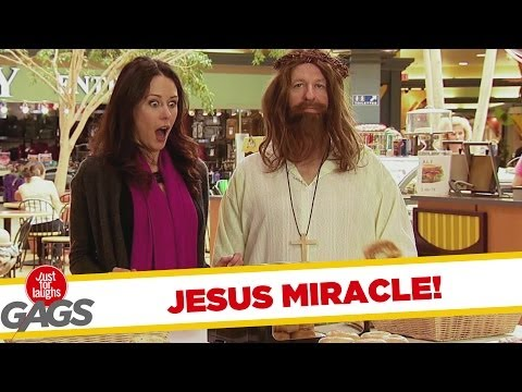 Jesus Performs a Miracle with Bagels Prank
