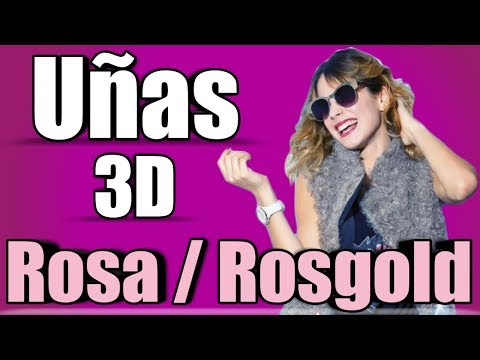 Uñas acrilicas - UÑAS ROSITA CON ROSGOLD