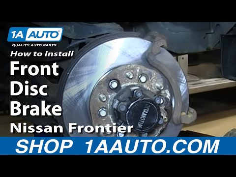 How To Install Replace Do a Front Disc Brake Job 2003-04 Nissan Frontier 00-04 Xterra