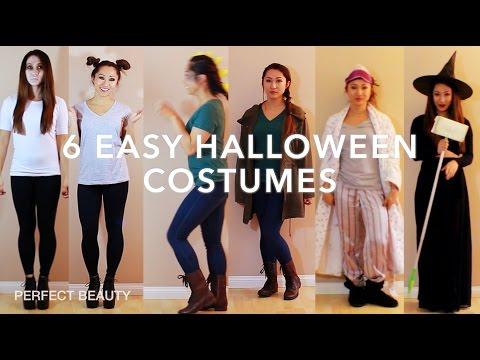 Last Minute! DIY Halloween Costume Ideas! PERFECT BEAUTY