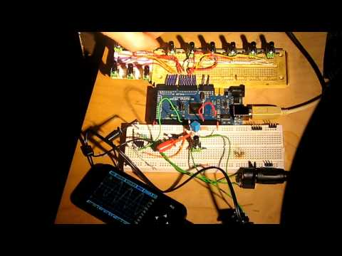 Arduino, OSC, iPhone and DMX WIZnet Museum