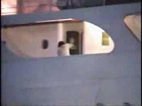 Ship hits bridge