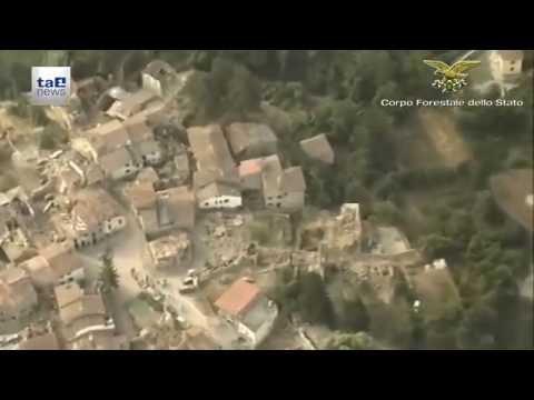 TERREMOTO CENTRO ITALIA: RICOGNIZIONE AEREA