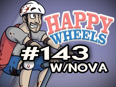 Happy Wheels w/Nova Ep.143 - TRIP TO BRAZIL &amp; MT.PAIN DOWNHILL Video